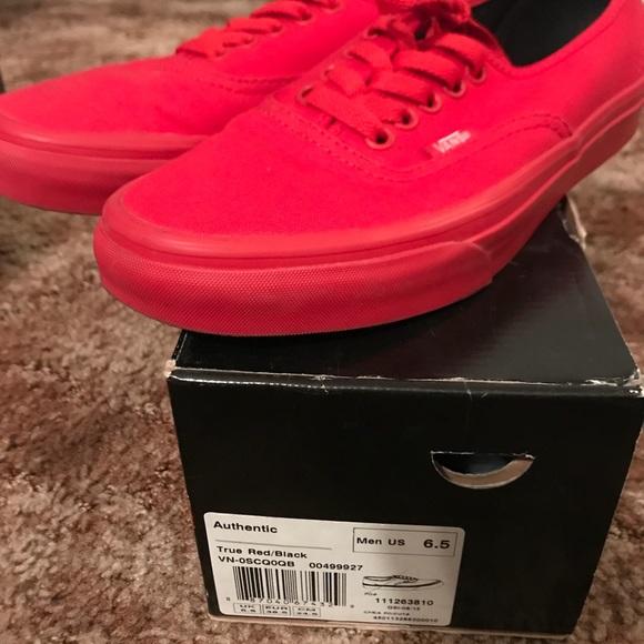 Vans Shoes - True Red Vans Authentic women s 8 men s 6.5 5bc970bfb